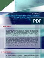 Sistema Experto de Test Vocacional Para Estudiantes.....