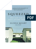"""Squeezed by Alissa Quart """"Why Our Families Can't Afford America"""""""
