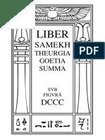 Liber Samekh Theurgia Goetia Summa (Congressus Cum Dæmone)