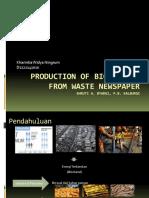 Produksi Bioetanol dari Koran Bekas