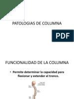 Patologias de Columna Con Semiologia