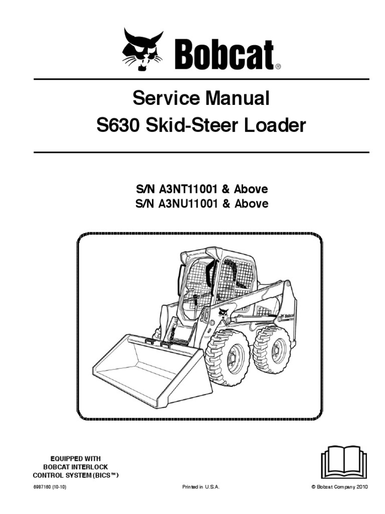 Bobcat S630 Service manual (taller , workshop) | Loader (Equipment