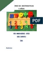 Cuaderno de Matematica 5 Años