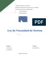 Ley de La Viscosidad de Newton