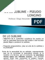 De Lo Sublime – Pseudo Longino