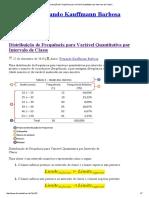 Distribuição de Frequência Para Variável Quantitativa Por Intervalo de Classe