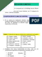 Clasificación Climática Clase