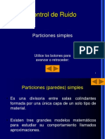 CALCULO AISLAMIENTO PARTICIONES SIMPLES