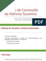 Hidrovia Tocantins Cenários de Investimento FINAL