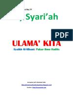 Kajian Utama Edisi 77 Majalah Asy-Syariah_Ulama' Kita_Syaikh Al Albani Pakar Ilmu Hadits