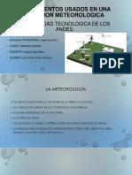 Instrumentos Usados en Una Estacion Meteorologica