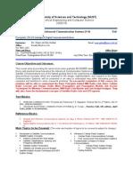 CSE-426 Advanced Communication Systems