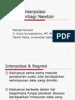 Metode Interpolasi Selisih-terbagi Newton