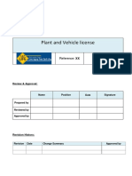 Plant & Vehicle License.standard Docx