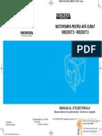 Manual de Utilizare Motopompa