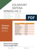 Progress Report Tubes Antena Minggu Ke-2
