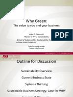 2010 Green Business Forum - Colin Tetreault presentation