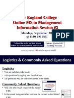 New England College MS in Management Sept 20th Info Session #2