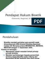 Bioetik Pendapat Hukum