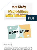 Work study method study work measurement
