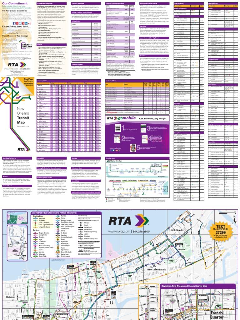 RTA SysMapBrochure020918   Bus   Public Transport