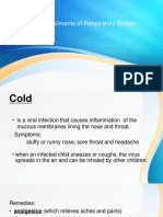 Respiratory System (Common Diseases)
