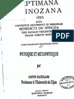 Bachelard Gaston - Physique et Metaphysique