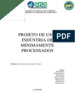 PROJETO DE INDÚSTRIA DE FRUTAS MINIMAMENTE PROCESSADAS