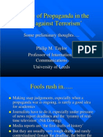 """The role of propaganda in the """"war against terrorism"""""""