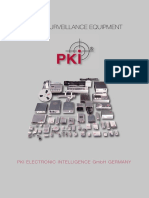 8 PKI Audio Surveillance Equipment Flyer 2015