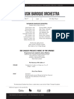 Tafelmusik Program