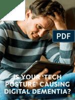 Is Your Tech Posture Causing Digital Dementia Patient Education HANDOUT