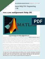 MATLAB Assignment Help UK