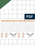 Japanese Bingo Handouts
