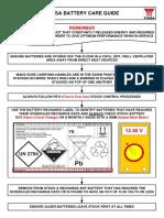 Yuasa Battery Care Guide