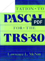 Invitation to PASCAL for the TRS-80 1985 Petrocelli Books
