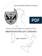 DIREZIONE INVESTIGATIVA ANTIMAFIA Relazione Luglio - Dicembre 2017