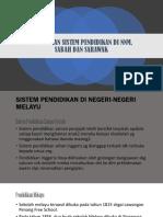 Perubahan Sistem Pendidikan Di Nnm, Sabah Dan