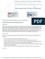 Fatigue Assessment of Flaws