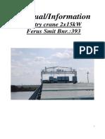 Coops Nieborg Gantry Crane Manual