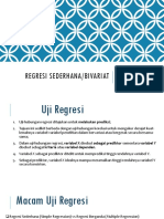 Regresi Sederhana Bivariat