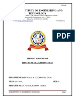 Electrical Measurements Lab Manual Va