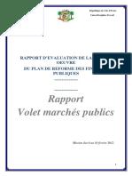 Rapport de La Mise en Oeuvre Du Plan de Reforme Des Finances Publiques Volet-marches-publics-2012