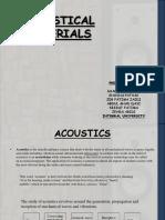 Acousticalmaterials