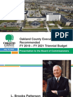 Oakland County Fiscal Year 2019-2021 Budget Presentation (7.19.18)