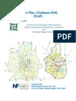 Chaibasa Master Plan - 2040 Draft Report English