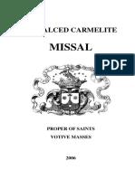 Carmelite Missal 1979