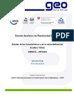 Informe de Estudio Geofisico Proyecto Trifinio 2015