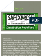 Presentation on Safexpress