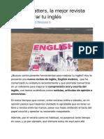 English matters, la mejor revista para mejorar tu inglés - Inglés por tu cuenta.pdf